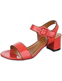 Komfortsandalen Damenschuhe Römersandalen Blockabsatz Bequeme Schnalle Ital-Design Sandalen / Sandaletten