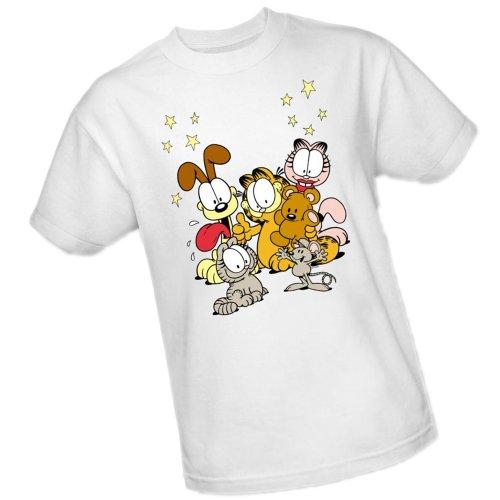 Freunde sind am besten - Garfield Adult T-Shirt, XXX-Large (Besten Freund T-shirt Adult)
