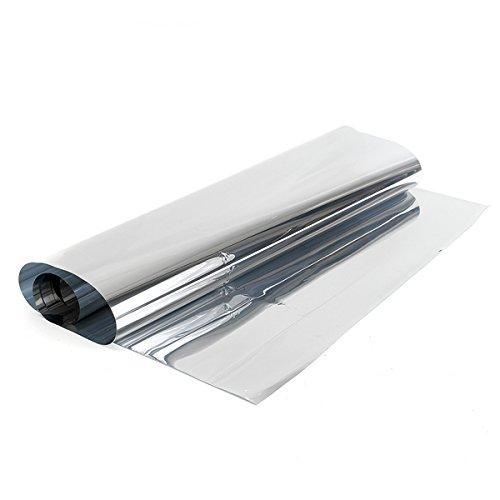 KUNSE 60Cm 1.8 M Silber One-Way Mirror Privatsphäre Reflektierende 15% Tönung Fensterfolie Tönung