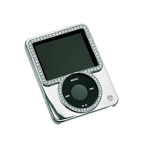 Gilty Couture Versilbert slider-fall mit klaren swarovski-kristallen für ipod nano 3g (Fall Nano Ipod 3g)
