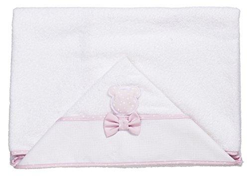 Peignoir triangulaire pour bébé rose