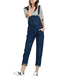 1800e1c5926 Simgahuva Womens Juniors Denim Overalls Plus Size Jumpsuit Long Pants