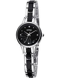 ufengke® art und weise populäre elegante schönes armband handgelenk armbanduhren für frauen damen mädchen-silber schwarz