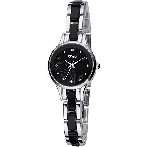 ufengke® mode élégante montre à bracelet poignet belle bracelet noir populaire pour les femmes dames filles-argent