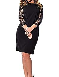 fd856c7696ff Simple-Fashion Primavera e Autunno Donne Corto Vestiti Donna Elegante Moda  Rotondo Collo Maniche Lunghe