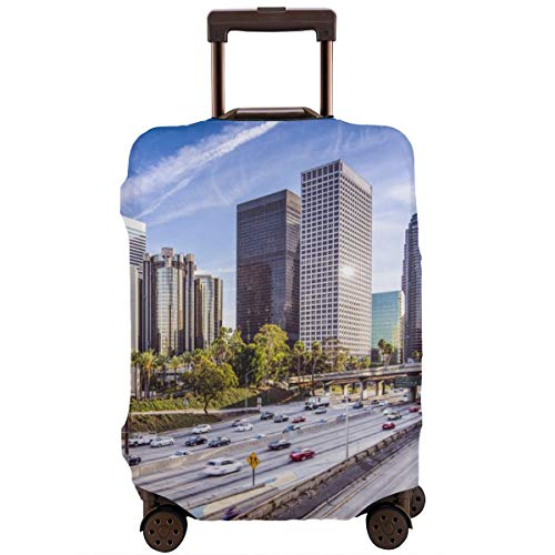 Travel Suitcase Protector,Diagonal and Vertical Stack of Soccer Balls Alphabet Letter M Symbol Design,Suitcase Cover Washable Luggage Cover M -