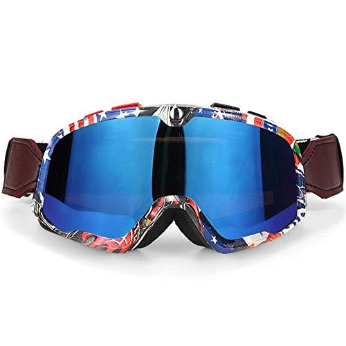 KOMNY Motocross Brille Motorrad Brille ATV Klare Linse Ski Helm Snowboard Googles Off-Road Für Kawasaki Oculos Gafas, F (Google Gafas)