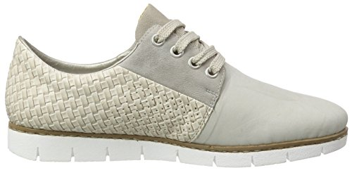 Rieker M1327 Women Low-top, Baskets Basses femme Beige - Beige (marble/grey/offwhite/rose / 61)