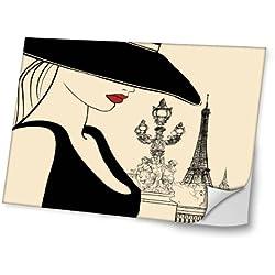 Vintage Paris 2, Diseño Mejor Pegatina de Vinilo Protector con Efecto Cuero Extraíble Adhesivo Sticker Skin Decal Decorativa Tapa con Diseño Colorido para Portátil 15.6''.