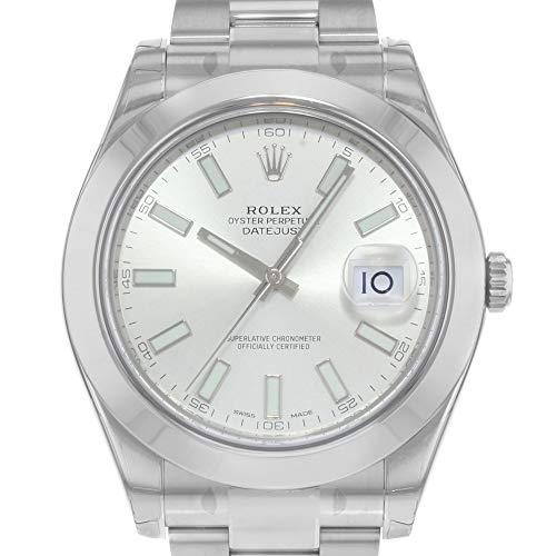 Datejust II - orologio da uomo in acciaio inossidabile, quadrante argento, automatico