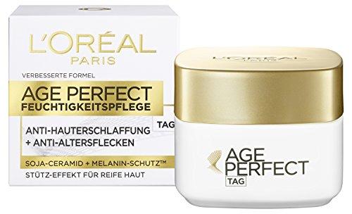 L\'Oréal Paris Anti-Aging Feuchtigkeitspflege, Age Perfect Tagescreme für eine straffe Haut und gegen Altersflecken, 50 ml