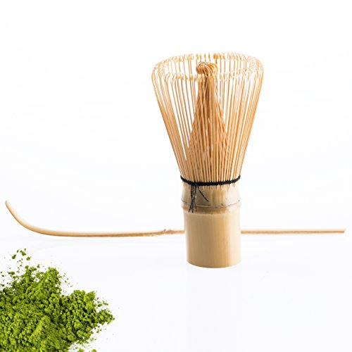 Premium Bamboo Traditional Matcha Green Tea Powder Whisk - Hand Made - 100 Prong Essential for Frothing Your Matcha - Matcha Whisker Ideal Gift for green tea lovers! Pack contains 1 whisk - Spoon NOT included. Test