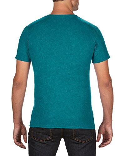 Anvil Herren T-Shirt Heather Galapagos Blue