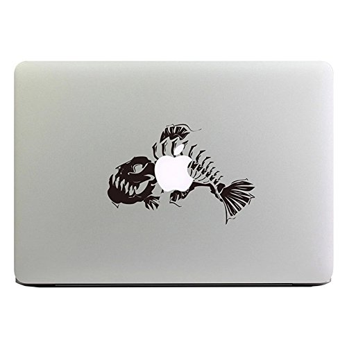 MacBook Aufkleber, Chickwin Creative Pattern dekorativ Film Notebook Sticker Skin personalisierte Aufkleber MacBook Decal (13.3/15.4/17 Zoll) (Fisch Knochen) (Notebook Los Angeles 17)