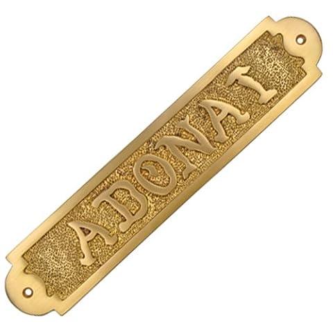 Adonai Hardware ADONAI Solid Brass Door Sign - Satin Brass