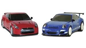 Scalextric C3129 Nissan GTR Porsche 997 Twin Pack
