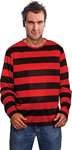 OSG Halloween Freddy Style Modisch Club Party Rot & Schwarz Gestreift Weich Pullover UK