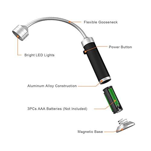 41WGks%2BaEiL - FIREOR Grill Licht, Magnetische BBQ Licht Flexibel Grilllampe Outdoor Grill Lichter BBQ Zubehör Werkzeuge Set (2 Pack, Schwarz)