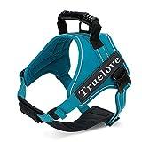 Explosionssicher Brustgurt, mittlere und große Hundeleine, bequem, fest und komfortabel, Multi-color Optional, K9 Brustgurt Dog Strap (Farbe : Blau, größe : L)
