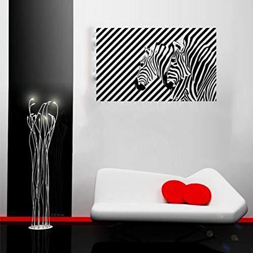 jiushizq Zebra Illusion Tier Abziehbilder Entfernbare Wandaufkleber Für Wohnzimmer Hintergrund Kunst Dekor Tapete Dekoration Wandbilder Schwarz 69X42 cm (Illusion Wand-kalender)
