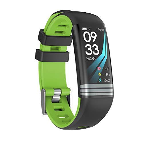 Elospy Fitness Tracker mit Pulsmesser Fitness Armband Wasserdicht IP67 Stoppuhr Uhr Pulsuhren Smart Armband Uhr Aktivitätstracker mit Schlaf Monitor Kompatibel mit Android iOS Smartphone