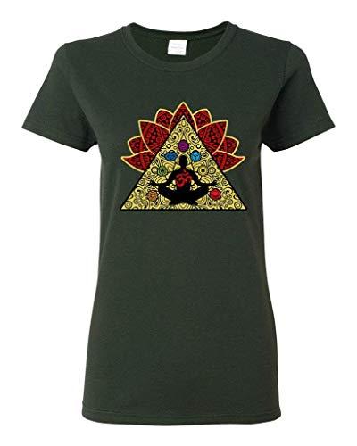 d4557e9836c0 Ladies Yoga Meditation Elements Relax Energy T-Shirt tee
