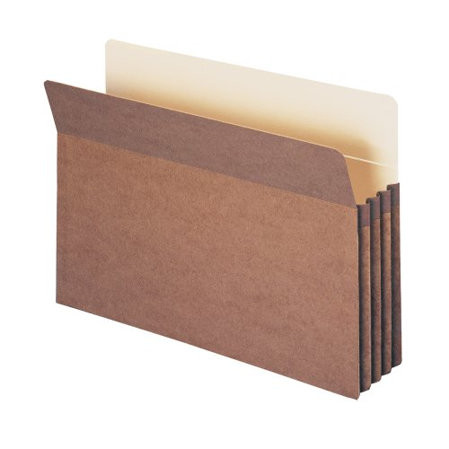 Tab Datei-jacke End (SMEAD Datei Tasche, gerade geschnittene Tab, 3–1/5,1cm Expansion, Legal Größe, Redrope, 25pro Box (74224))
