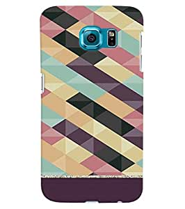Citydreamz Zig Zag Lines\Pattern Hard Polycarbonate Designer Back Case Cover For Samsung Galaxy S6 Edge