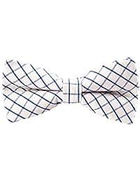 SORGENFREI - Hochwertige Herren Fliege - 100% Baumwolle, bereits gebunden, verschiedene Designs - verstellbar