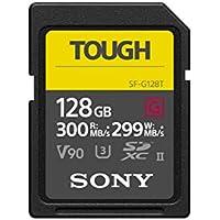 Sony - Tarjeta de Memoria Flash SDHC 128GB – la Serie UHS-II SD Tough G más Dura y Rápida del Mundo