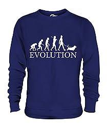 Candymix - Basset Hound Evolution Of Man - Unisex Sweatshirt Mens Ladies Sweater Jumper Top