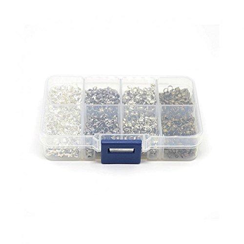 Attacchi per gioielli, con fiocco, in metallo, confezione da 1,000 pezzi, colore: multicolore