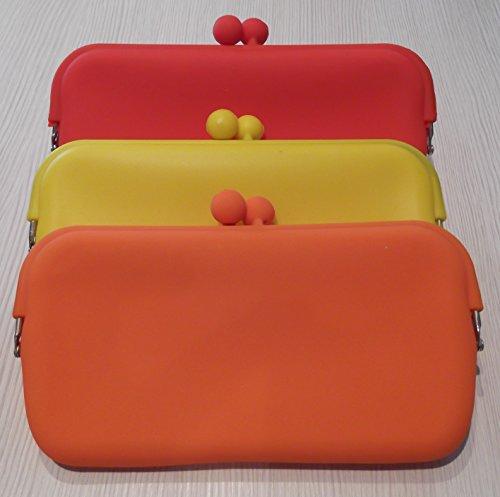 Tasche, Federmäppchen, Tür Artikel aus Silikon–für Schlüssel Währung Telefon, orange Orange