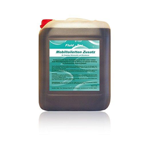 Fluid-Tec 1 x 5 Liter Kanister Mobiltoiletten Zusatz Konzentrat/Sanitärflüssigkeit für Campingtoilette/Chemietoilette/ Abwassertank Plus 1 Auslaufhahn - für ca. 1000 Ltr. Abwasser