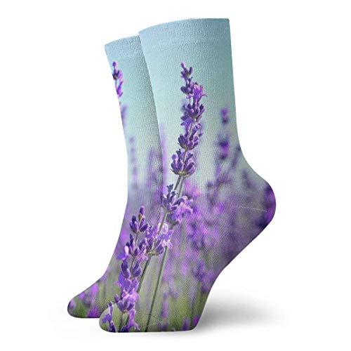 dfegyfr Close Up Tilt Shot of Lavender Flowers Casual Crew Socks,Thin Socks Short Ankle for Outdoor,Running,Athletic,Travel