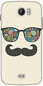 Snoogg Mustache Beach Life Designer Protective Back Case Cover For Micromax A110