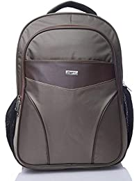 FLYIT Unisex Boys Girls Backpack Polyester Back Bag with Trendy Design Book Bags, Color- Light Chocolate
