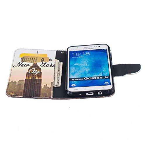 BoxTii® - Custodia a portafoglio in pelle + pellicola protezione schermo in vetro temperato, con cover posteriore, per Apple iPhone 6/6S, modello floreale con cinturino da polso e scomparti per carte  #3 Building