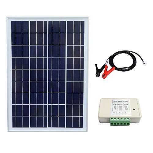 panel solar 12V 25W   Potencia relacionada: 25W  Voc: 21.6 V  Vop: 18V  Cirxuit corto actual (Isc): 1.22A  Corriente de trabajo (lop): 1.11A  Dimensiones: 20.5x14.4x0.7 pulgadas (450x350x18mm)  Garantía energética: 90% en 10 años 80% en 25 años    E...