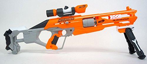 Preisvergleich Produktbild Nerf AccuStrike AlphaHawk Sniper Edition - Der Blaster mit den ultra-genauen Darts im Bundle mit coolem Zielfernohr und Zweibein