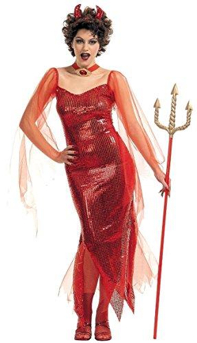 Inception Pro Infinite Größe M - Kostüm - Verkleidung - Karneval - Halloween - Teufel - Teufel - Höllischer Dämon - Sexy - Rot - Erwachsene - Frau - Mädchen