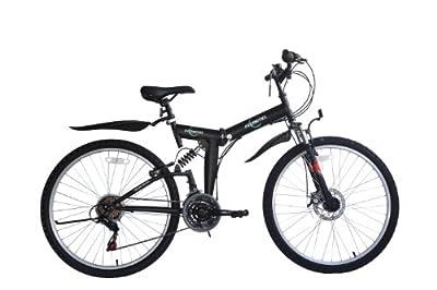 ecosmo ecosmo 66cm zusammenklappbar Mountain Fahrrad 21SP shimano-26sf02bl + Tragetasche