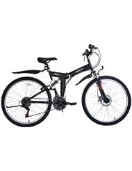 "ECOSMO Ecosmo 26"" Folding Mountain Bicycle Bike 21SP SHIMANO-26SF02BL"
