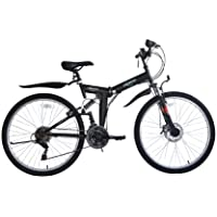 ECOSMO 26SF02BL+Carry Bag - Bicicleta plegable (suspensión, ...