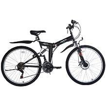 Ecosmo - Bicicleta plegable 21SP Shimano-26SF02BL de 66,04 cm con bolsa para