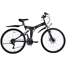 ECOSMO 26SF02BL - Bicicleta plegable (suspensión, ...