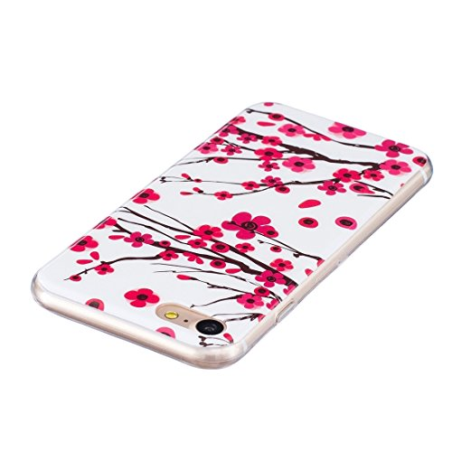 iPhone Case Cover Pour iPhone 7 Noctilucent Plum Pattern IMD Workmanship Soft TPU Back Cover Case ( SKU : Ip7g1672b ) Ip7g1672a
