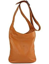 Belli , sac bandoulière femme - Marron - Cognac, 24x28x8 cm (B x H x T) EU