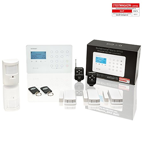 Safe2Home Funk Alarmanlagen Set SP110 mit Sabotageschutz – deutschsprachiges GSM Alarmsystem SMS...