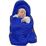 Babymoon Organic Knitted Swaddle Wrap - Sleeping Bag Sleep Sack Stroller - Hip-Healthy, Soft, Comfortable & Cosy Warm Wrapping Blanket - Eco Friendly Babywearing - Best Babyshower Gift
